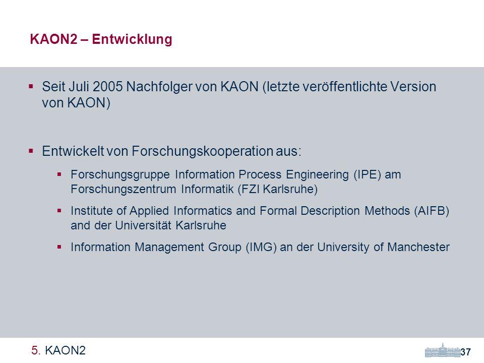 KAON2 – Entwicklung 37 5.