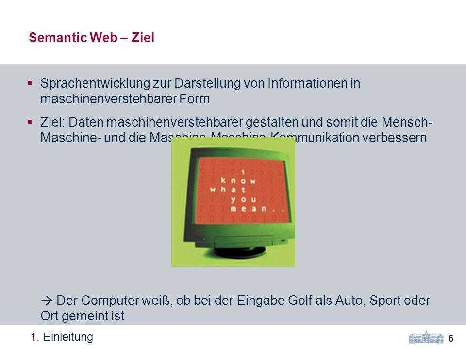Semantic Web – Ziel 6 1.