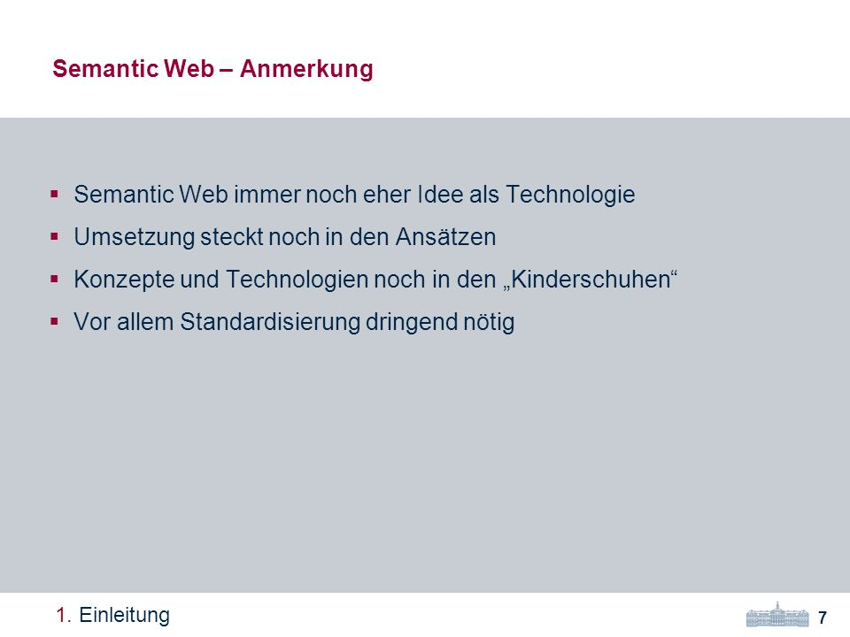 Semantic Web – Anmerkung 7 1.
