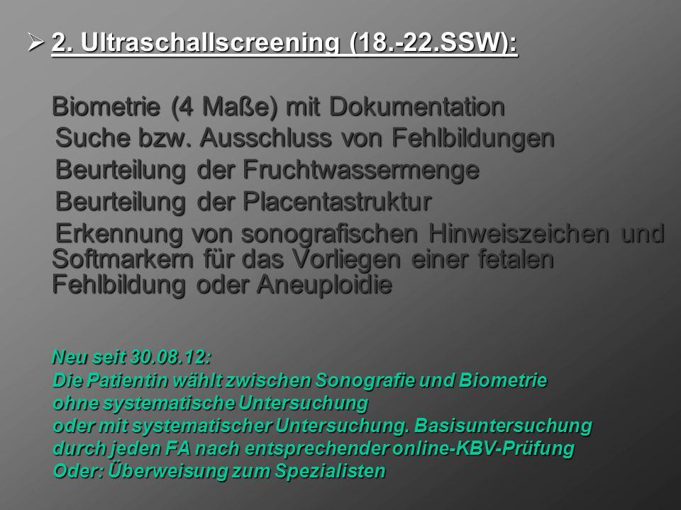 2.Ultraschallscreening (18.-22.SSW): 2.