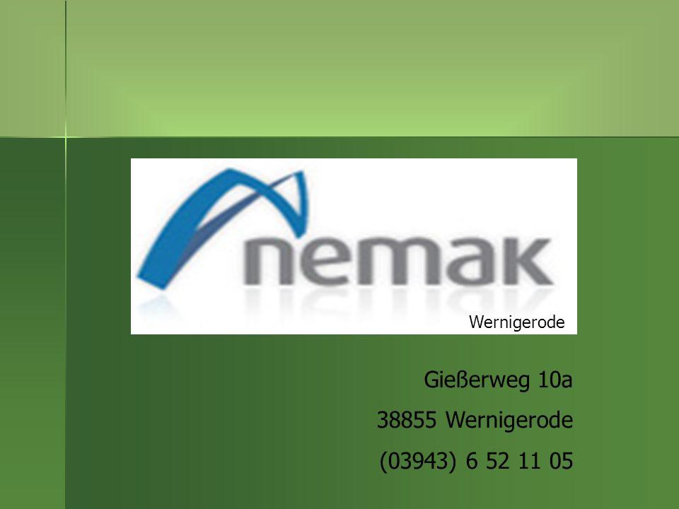 Gießerweg 10a 38855 Wernigerode (03943) 6 52 11 05 Wernigerode