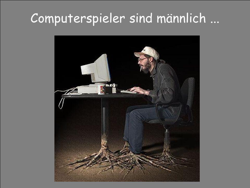 Computerspieler sind männlich...