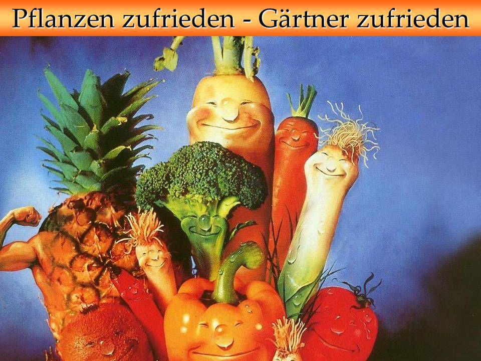 Pflanzen zufrieden - Gärtner zufrieden