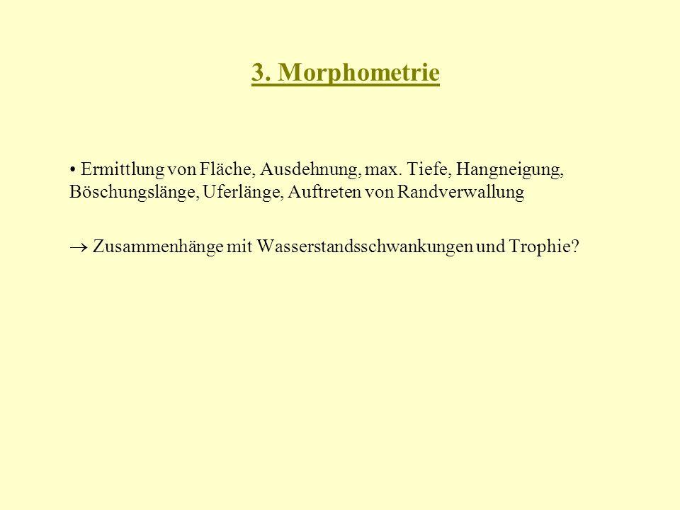 3.Morphometrie Ermittlung von Fläche, Ausdehnung, max.