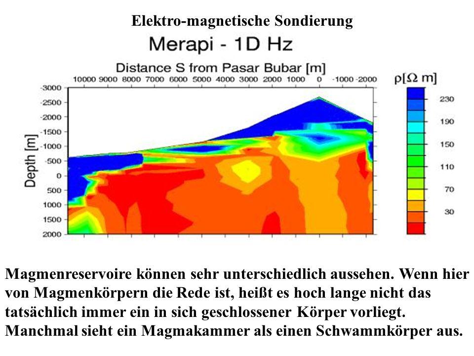 Magmenreservoire können sehr unterschiedlich aussehen. Wenn hier von Magmenkörpern die Rede ist, heißt es hoch lange nicht das tatsächlich immer ein i