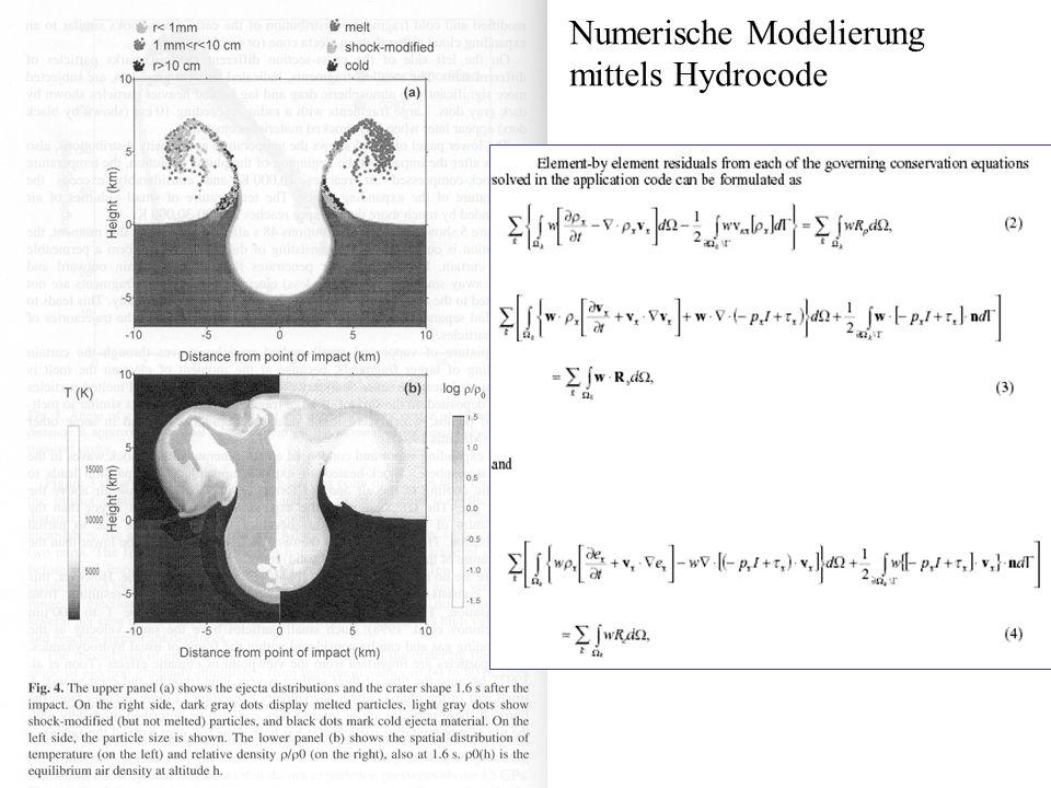 Numerische Modelierung mittels Hydrocode