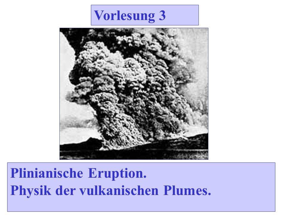 Vorlesung 3 Plinianische Eruption. Physik der vulkanischen Plumes.