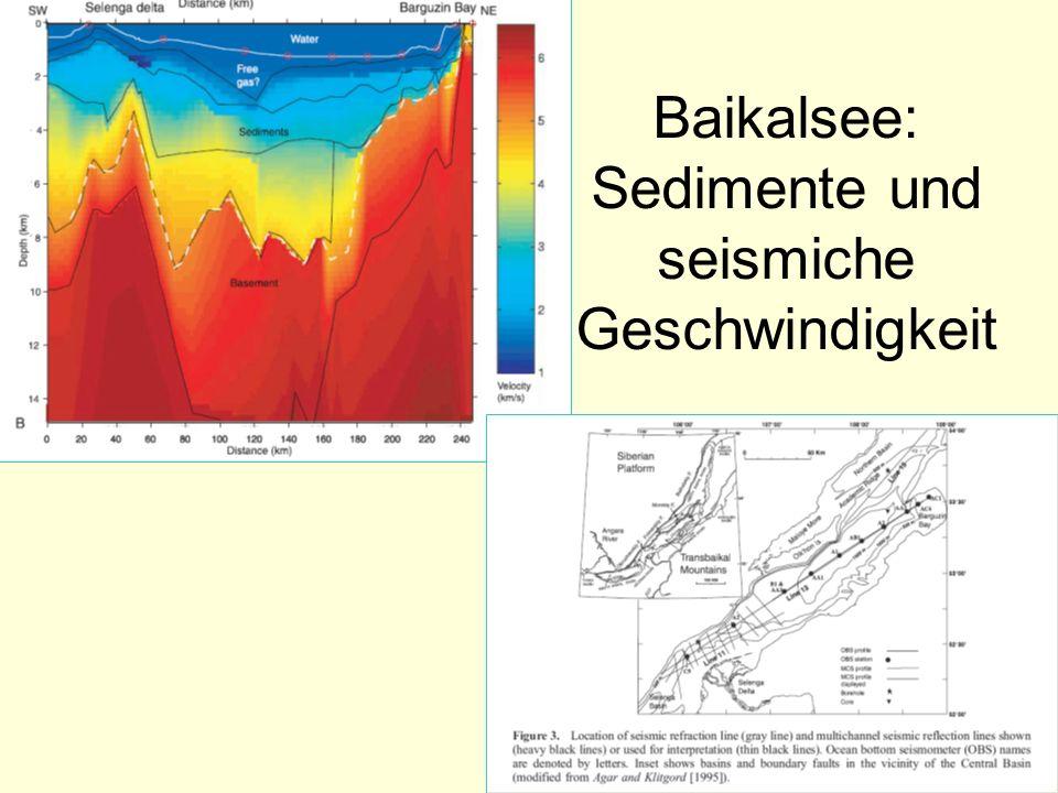 Baikalsee: Sedimente und seismiche Geschwindigkeit