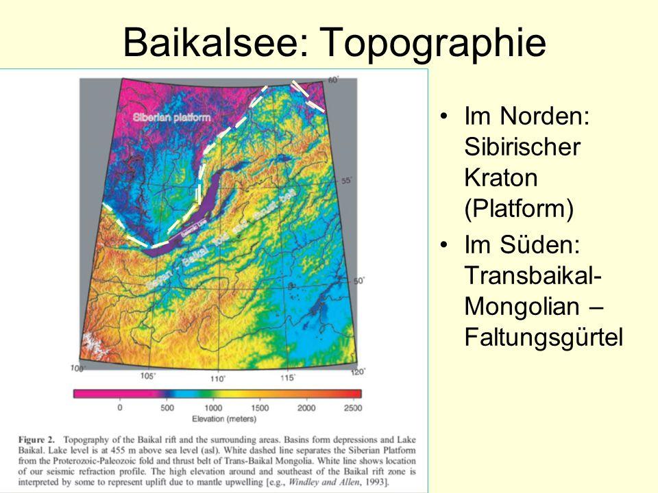 Baikalsee: Topographie Im Norden: Sibirischer Kraton (Platform) Im Süden: Transbaikal- Mongolian – Faltungsgürtel