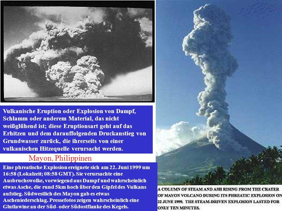 Eine phreatische Explosion ereignete sich am 22. Juni 1999 um 16:58 (Lokalzeit; 08:58 GMT). Sie verursachte eine Ausbruchswolke, vorwiegend aus Dampf