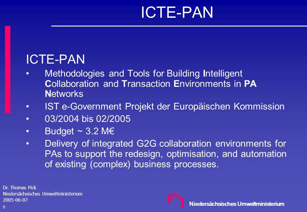Niedersächsisches Umweltministerium Dr. Thomas Pick Niedersächsisches Umweltministerium 2005-06-07 8 Emailbenachrichtigung