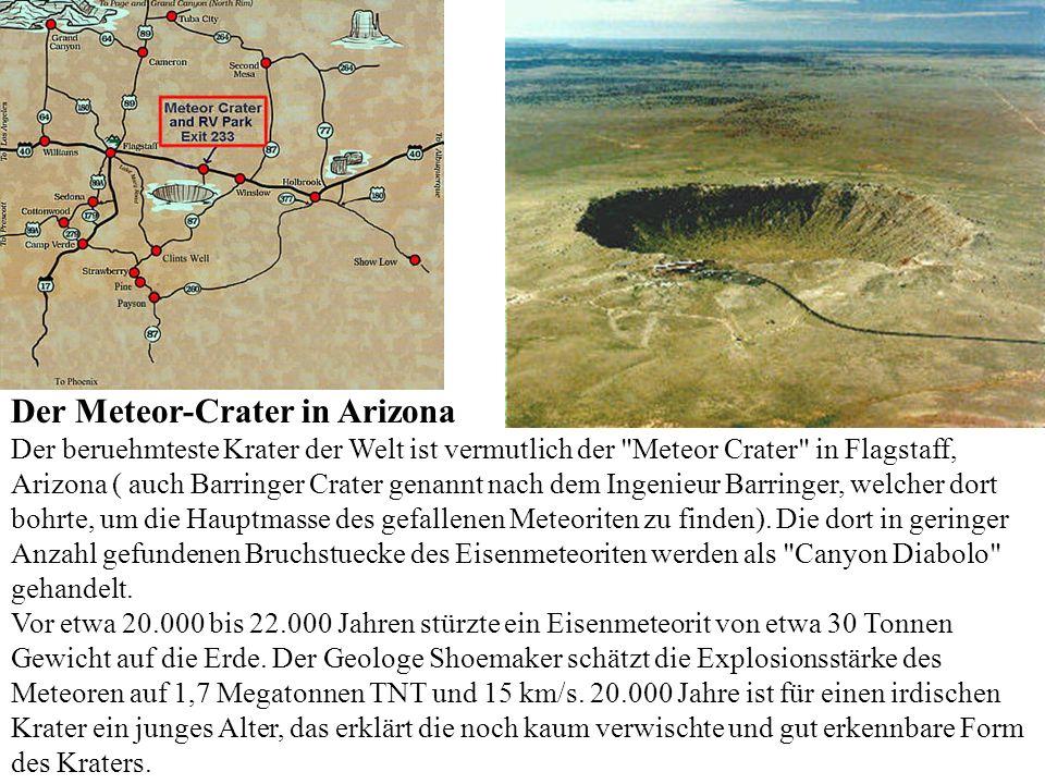 In der Deformationsphase störzen die ausgeworfenen Materialien teilweise zurück, die Kraterwälle brechen ein, rutschen nach innen.