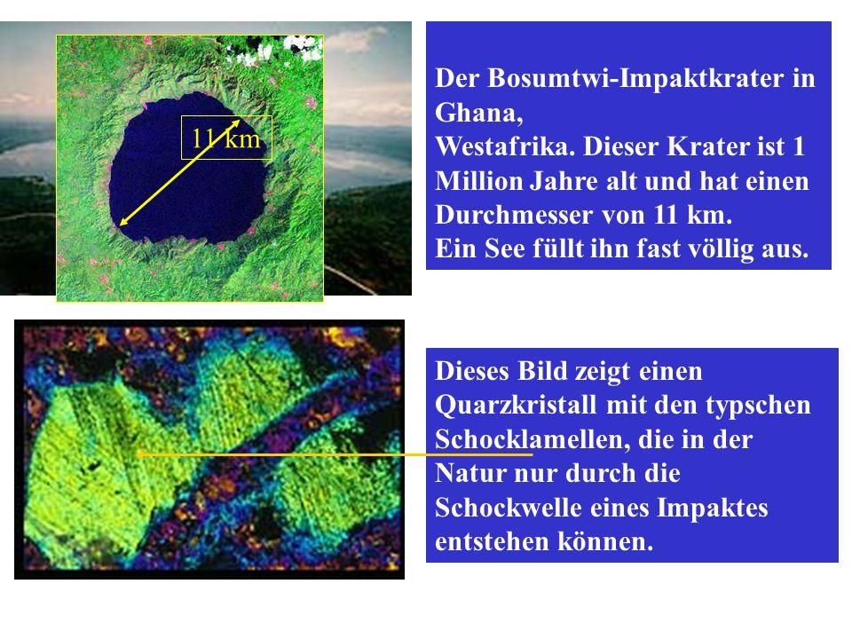 KOLLISIONSPARAMETER Projektil: Steinasteroid Durchmesser: 50 m, Geschwindigkeit: 20 km/s RESULTAT: Explosion 5-20 km über die Oberfläche der Erde.