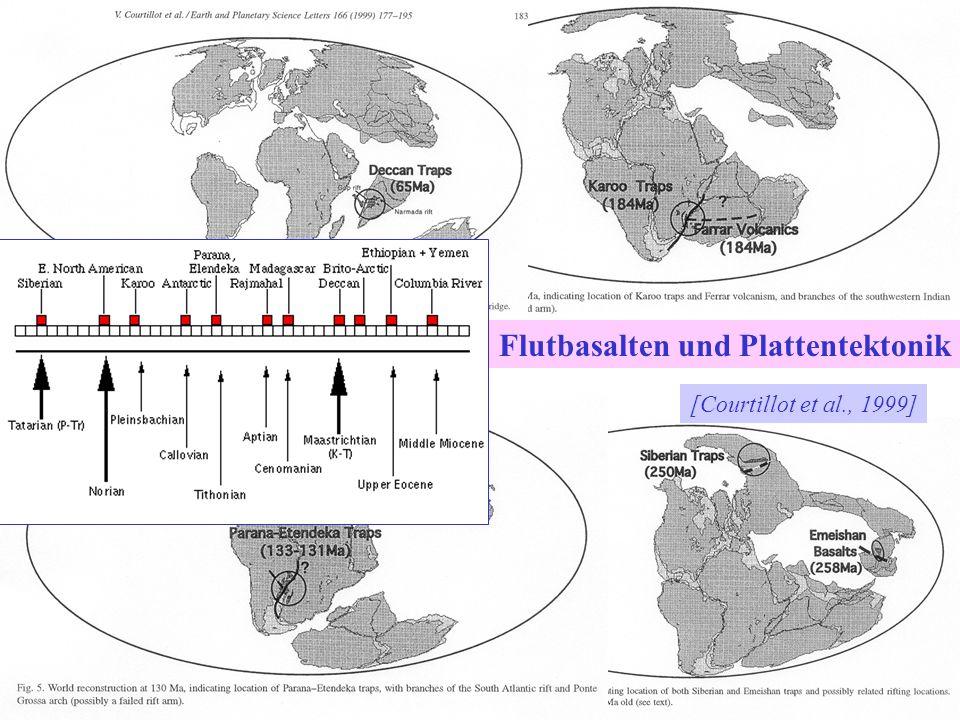 [Courtillot et al., 1999] Flutbasalten und Plattentektonik