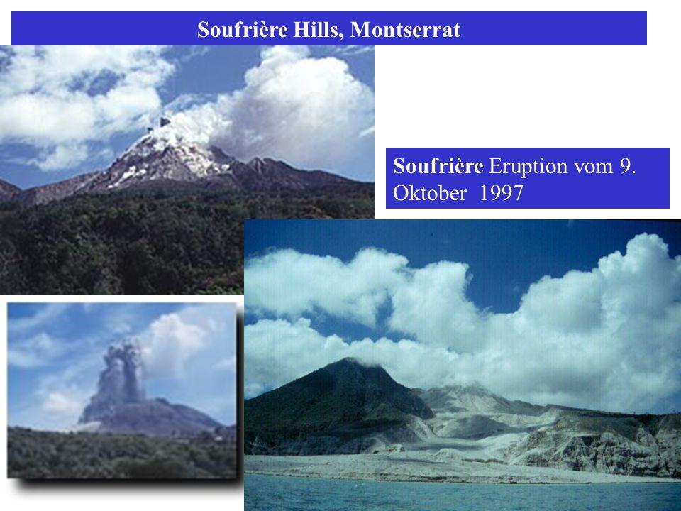 Soufrière Hills, Montserrat Soufrière Eruption vom 9. Oktober 1997