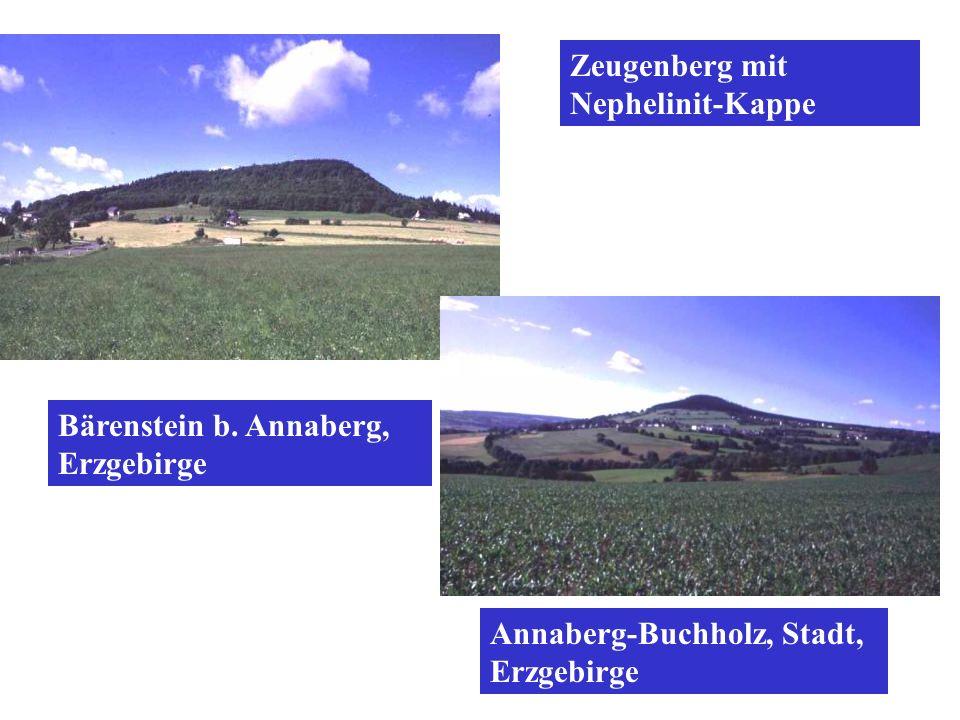 Bärenstein b. Annaberg, Erzgebirge Annaberg-Buchholz, Stadt, Erzgebirge Zeugenberg mit Nephelinit-Kappe
