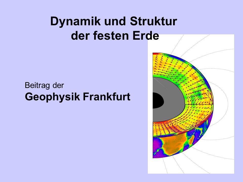 Mantelkonvektion Spreading, rifting Subduktion Starting plume Hot spot Orogenese Isostatischer Ausgleich Innerer Kern Plume Äußerer Kern Unterer Mantel Übergangszone Asthenosphäre Lithosphäre Nicht skaliert Dynamik und Struktur des Erdinnern