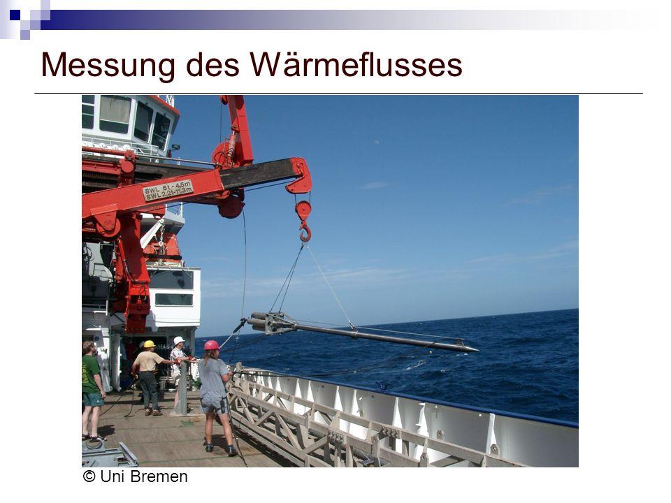 Messung des Wärmeflusses © Uni Bremen