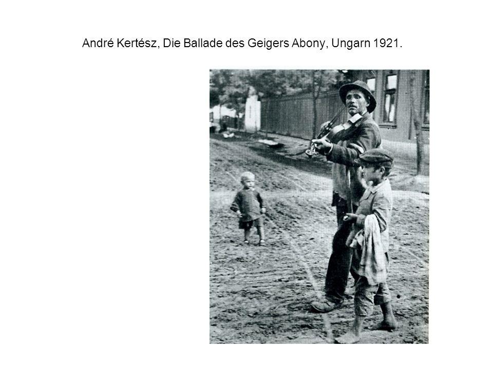 André Kertész, Die Ballade des Geigers Abony, Ungarn 1921.