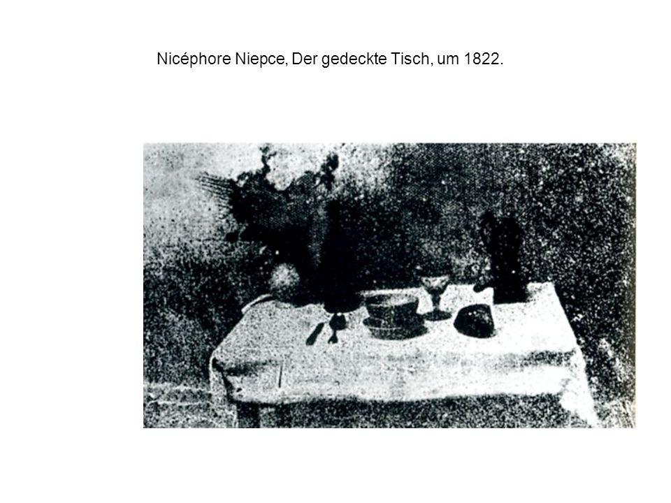 Nicéphore Niepce, Der gedeckte Tisch, um 1822.
