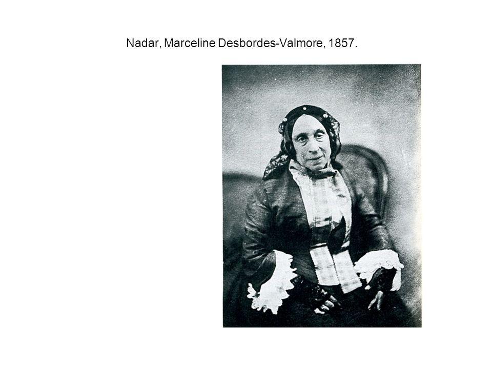 Nadar, Marceline Desbordes-Valmore, 1857.