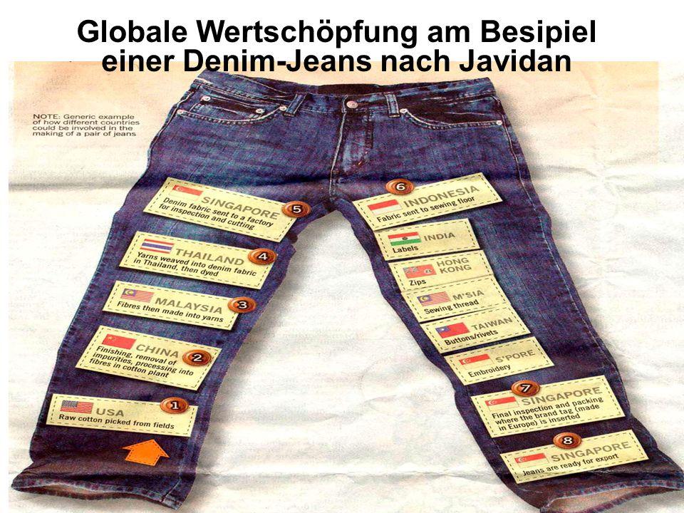 LangInterkulturelle Kommunikation und Kooperation 9 Globale Wertschöpfung am Besipiel einer Denim-Jeans nach Javidan