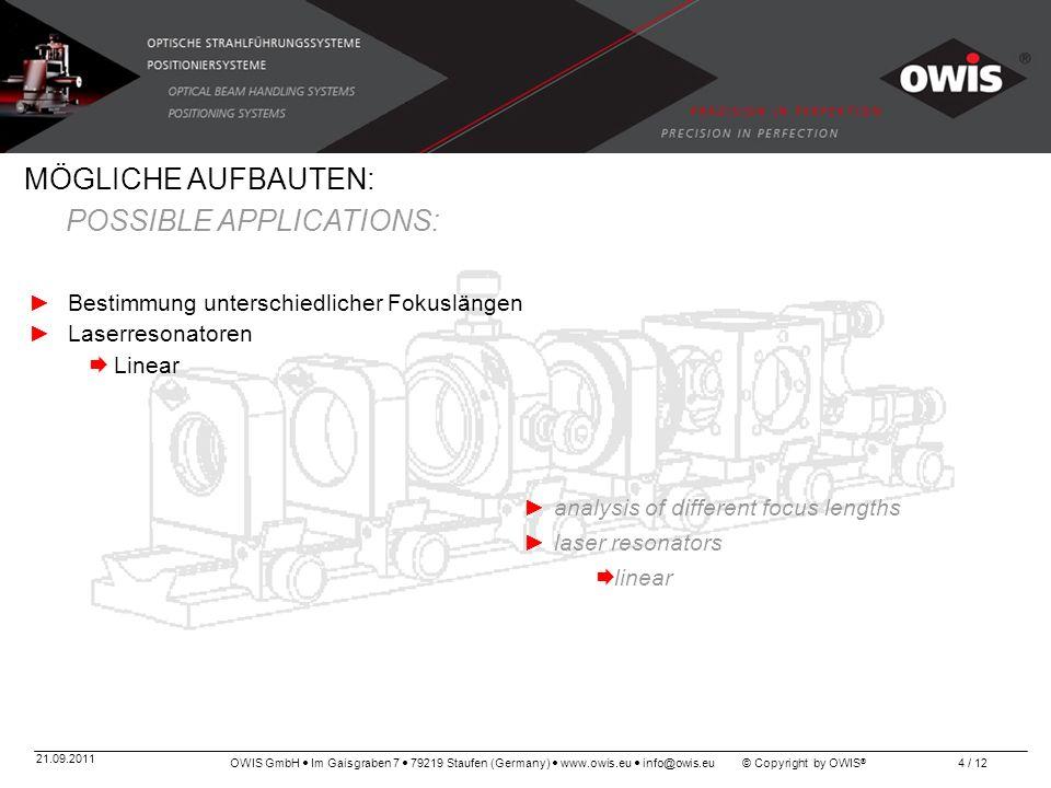 OWIS GmbH Im Gaisgraben 7 79219 Staufen (Germany) www.owis.eu info@owis.eu © Copyright by OWIS ® 21.09.2011 4 / 12 Bestimmung unterschiedlicher Fokusl