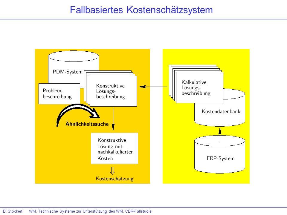 B. Stöckert WM, Technische Systeme zur Unterstützung des WM, CBR-Fallstudie Fallbasiertes Kostenschätzsystem