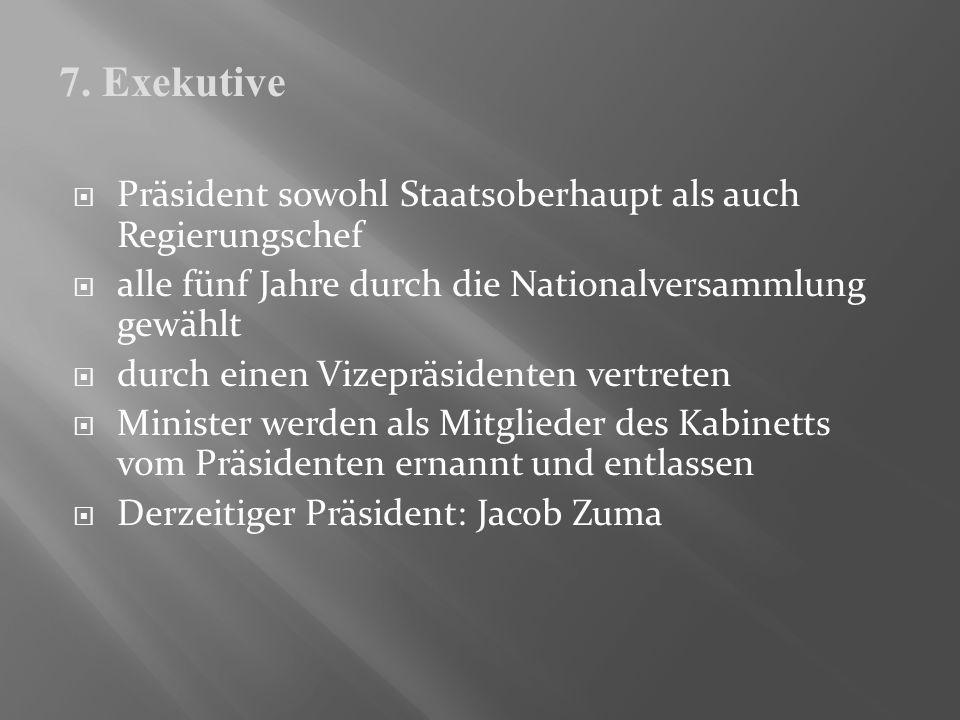 Präsident sowohl Staatsoberhaupt als auch Regierungschef alle fünf Jahre durch die Nationalversammlung gewählt durch einen Vizepräsidenten vertreten M