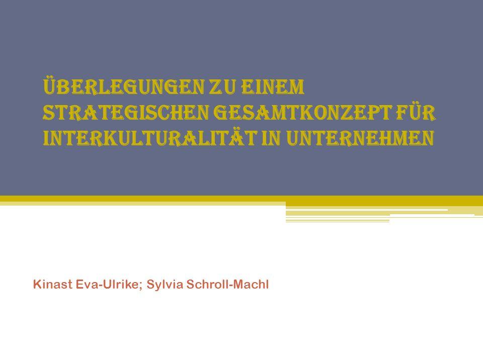 Überlegungen zu einem strategischen Gesamtkonzept für Interkulturalität in Unternehmen Kinast Eva-Ulrike; Sylvia Schroll-Machl
