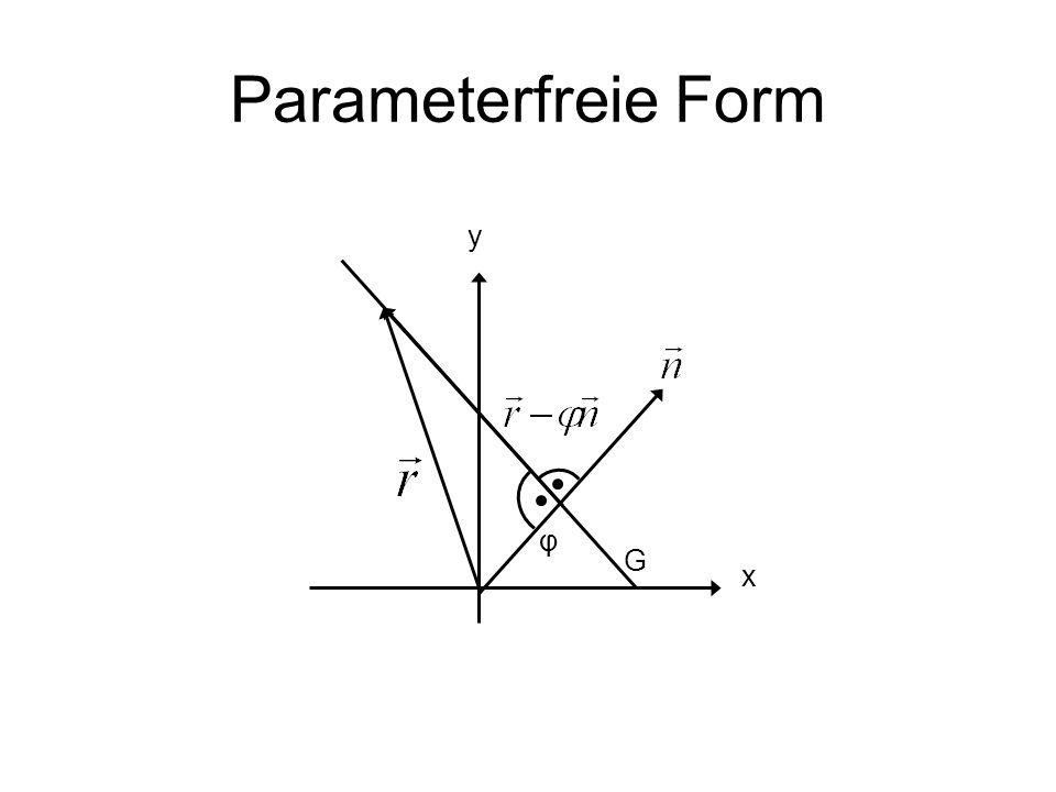 Parameterfreie Form G x y φ