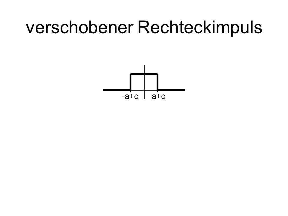 verschobener Rechteckimpuls -a+ca+c