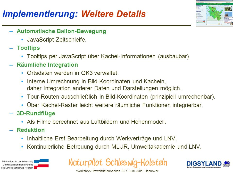 Workshop Umweltdatenbanken 6./7.