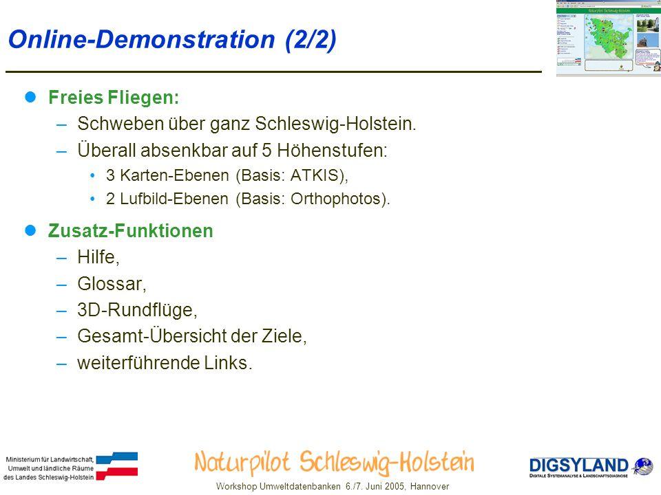 Workshop Umweltdatenbanken 6./7.