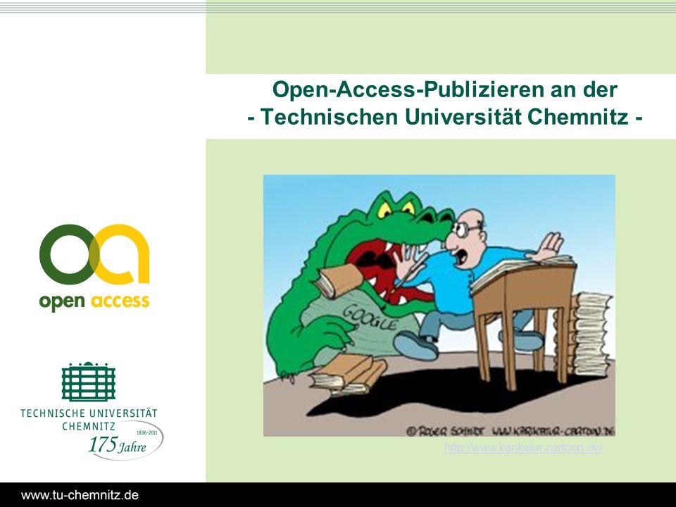 Open-Access-Publizieren an der - Technischen Universität Chemnitz - http://www.karikatur-cartoon.de/