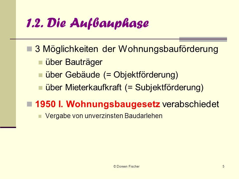 © Doreen Fischer6 1.3.Eigentumsförderung 1956: II.