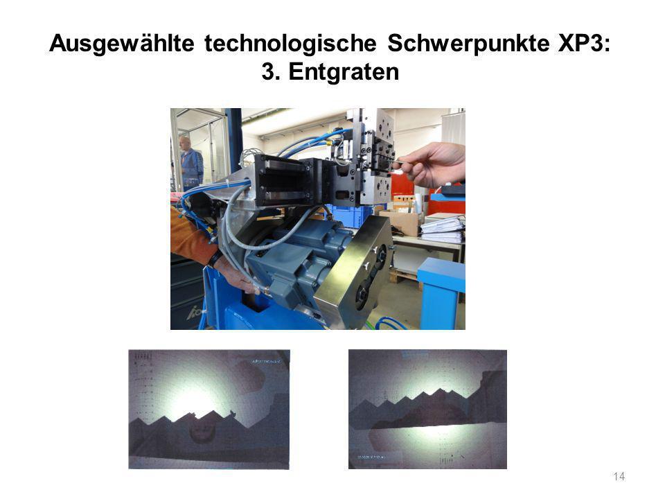 14 Ausgewählte technologische Schwerpunkte XP3: 3. Entgraten