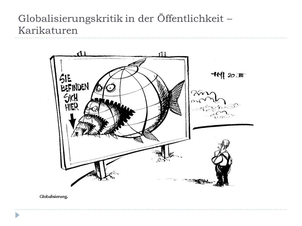 Globalisierungskritik in der Öffentlichkeit – Karikaturen