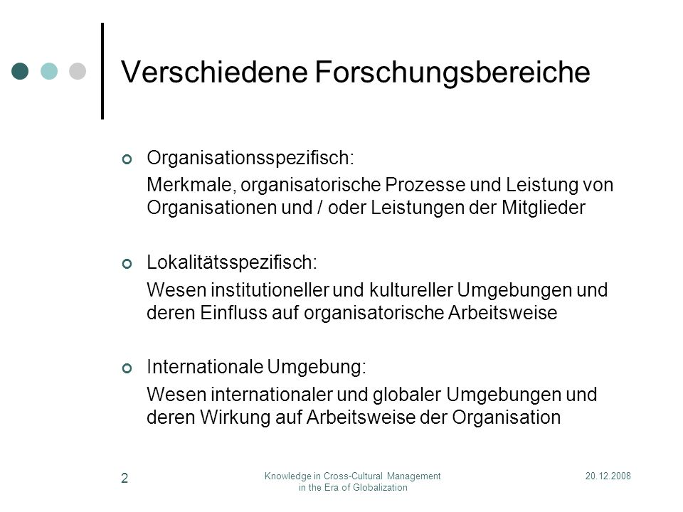 20.12.2008Knowledge in Cross-Cultural Management in the Era of Globalization 3 X W Z Y