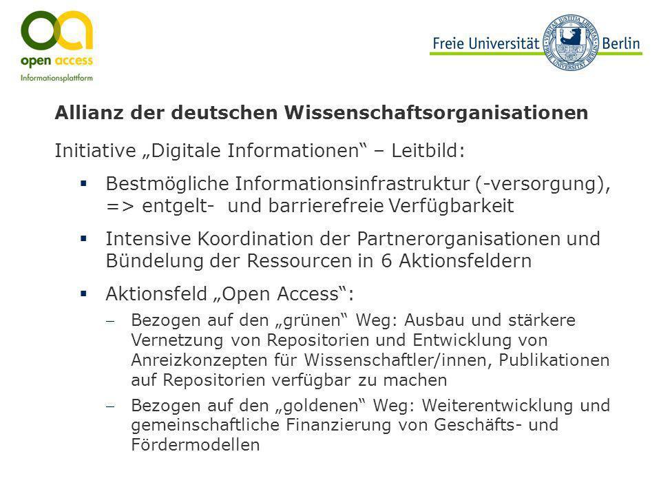 Allianz der deutschen Wissenschaftsorganisationen Initiative Digitale Informationen – Leitbild: Bestmögliche Informationsinfrastruktur (-versorgung),