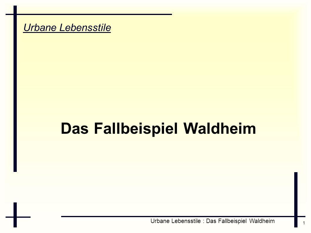 1 Urbane Lebensstile : Das Fallbeispiel Waldheim Urbane Lebensstile Das Fallbeispiel Waldheim