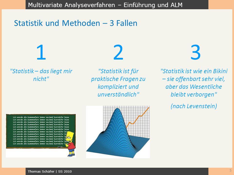 Multivariate Analyseverfahren – Einführung und ALM Thomas Schäfer | SS 2010 5 Statistik und Methoden – 3 Fallen