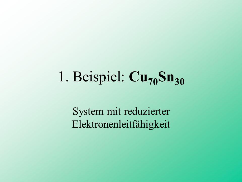 1. Beispiel: Cu 70 Sn 30 System mit reduzierter Elektronenleitfähigkeit