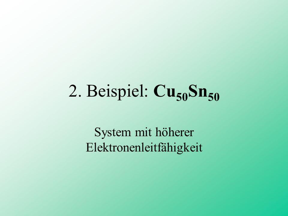 2. Beispiel: Cu 50 Sn 50 System mit höherer Elektronenleitfähigkeit