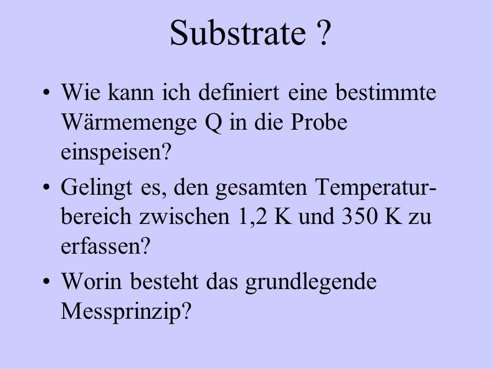 Substrate . Wie kann ich definiert eine bestimmte Wärmemenge Q in die Probe einspeisen.