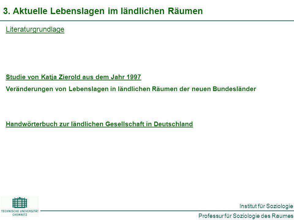 Professur für Soziologie des Raumes Institut für Soziologie 3.