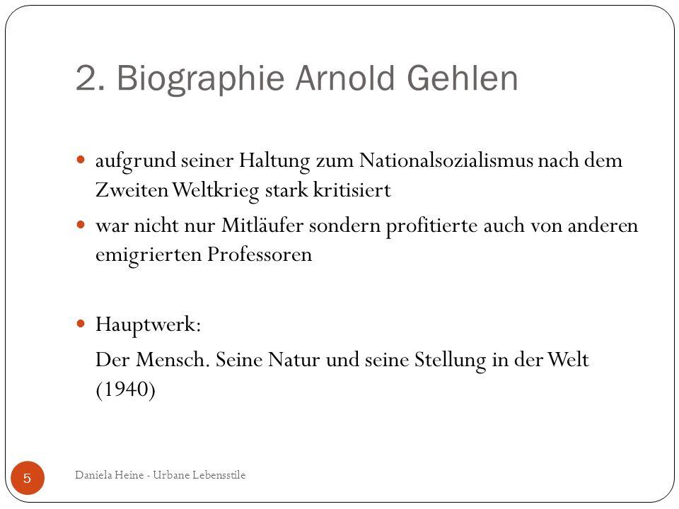 2. Biographie Arnold Gehlen aufgrund seiner Haltung zum Nationalsozialismus nach dem Zweiten Weltkrieg stark kritisiert war nicht nur Mitläufer sonder