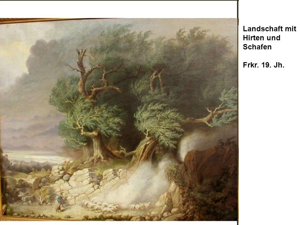 Gliederung Landschaft mit Hirten und Schafen Frkr. 19. Jh.
