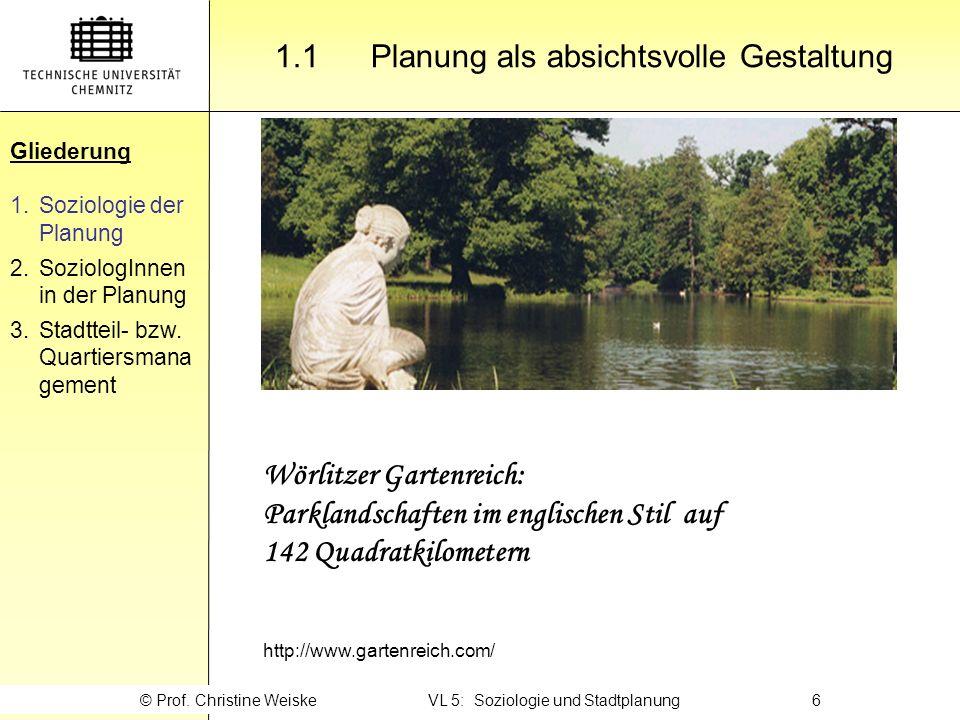 Gliederung 2.3 … als Politikberater Gliederung 1.Soziologie der Planung 2.SoziologInnen in der Planung 3.Stadtteil- bzw.