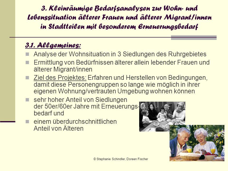 © Stephanie Schindler, Doreen Fischer16 3. Kleinräumige Bedarfsanalysen zur Wohn- und Lebenssituation älterer Frauen und älterer Migrant/innen in Stad